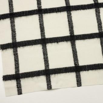 ウール&ナイロン混×チェック(エクリュ&ブラック)×カルゼ サムネイル2