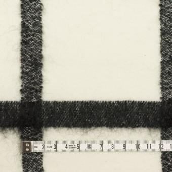 ウール&ナイロン混×チェック(エクリュ&ブラック)×カルゼ サムネイル4