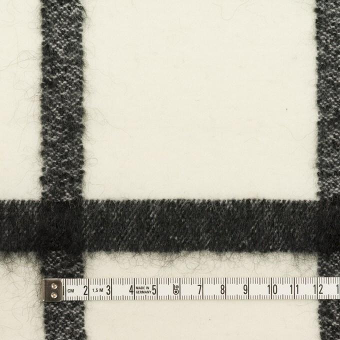 ウール&ナイロン混×チェック(エクリュ&ブラック)×カルゼ イメージ4