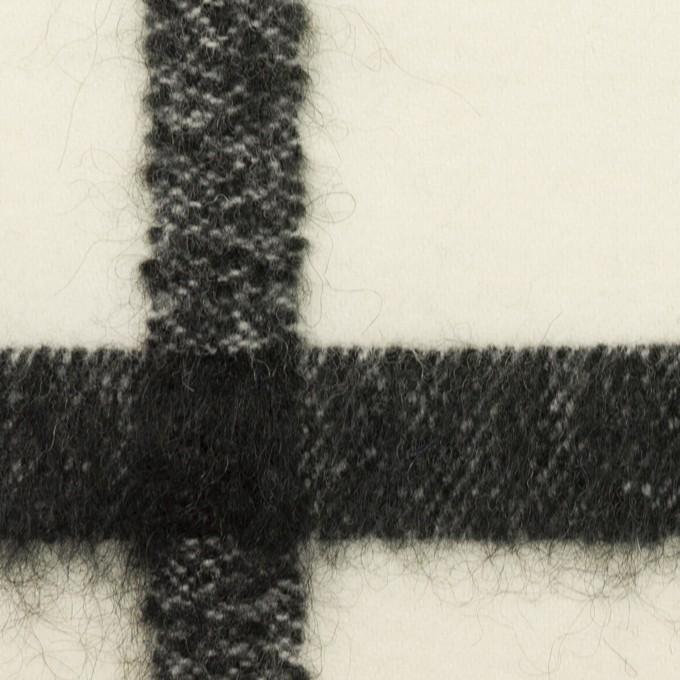 ウール&ナイロン混×チェック(エクリュ&ブラック)×カルゼ イメージ1