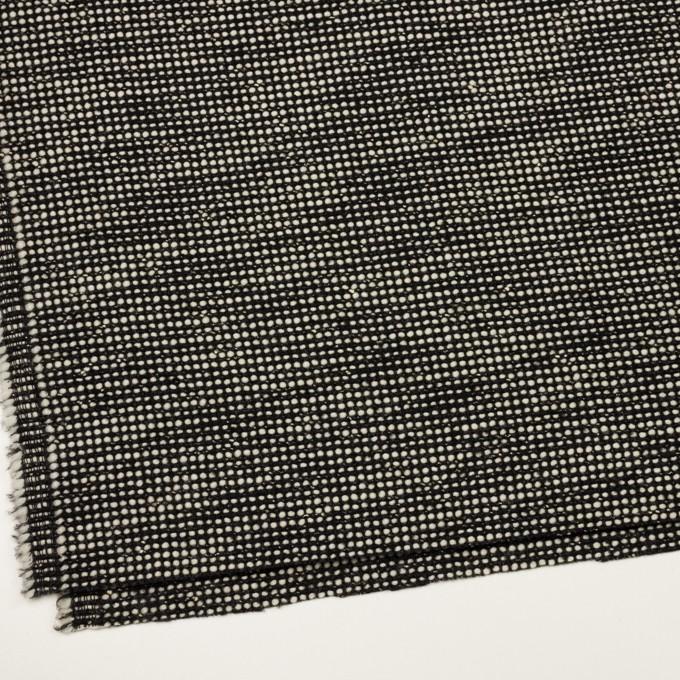 ウール&コットン混×ミックス(ブラック&エクリュ)×ファンシーツイード_イタリア製 イメージ2