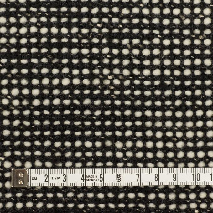 ウール&コットン混×ミックス(ブラック&エクリュ)×ファンシーツイード_イタリア製 イメージ4