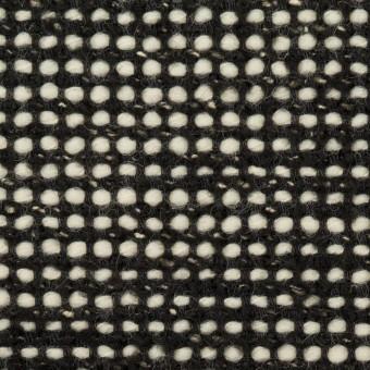 ウール&コットン混×ミックス(ブラック&エクリュ)×ファンシーツイード_イタリア製 サムネイル1
