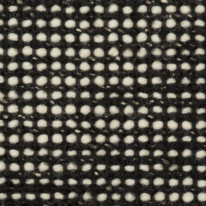 ウール&コットン混×ミックス(ブラック&エクリュ)×ファンシーツイード_イタリア製 イメージ1