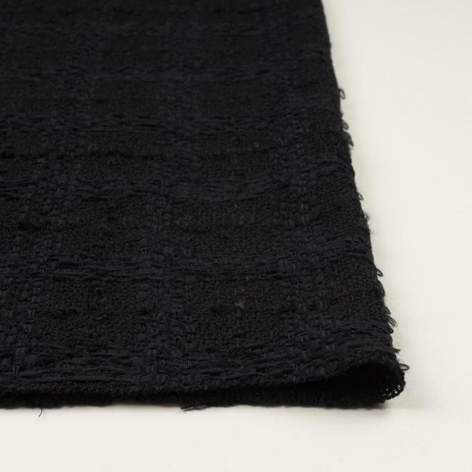 ウール&コットン混×チェック(ブラック)×ファンシーツイード イメージ3