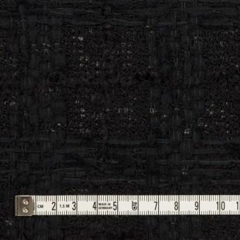 ウール&コットン混×チェック(ブラック)×ファンシーツイード サムネイル4