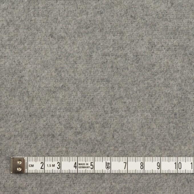 ウール&アクリル混×無地(グレー)×フラノ(フランネル) イメージ4