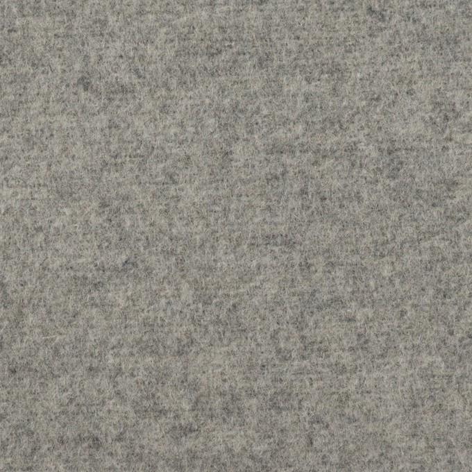 ウール&アクリル混×無地(グレー)×フラノ(フランネル) イメージ1
