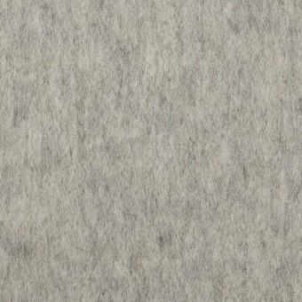 ウール&ポリエステル×無地(グレー)×ビーバー_イタリア製
