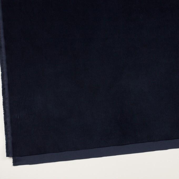 コットン&ポリウレタン×無地(ネイビー)×中細コーデュロイ・ストレッチ イメージ2