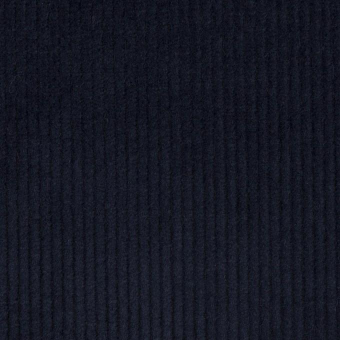 コットン&ポリウレタン×無地(ネイビー)×中細コーデュロイ・ストレッチ イメージ1
