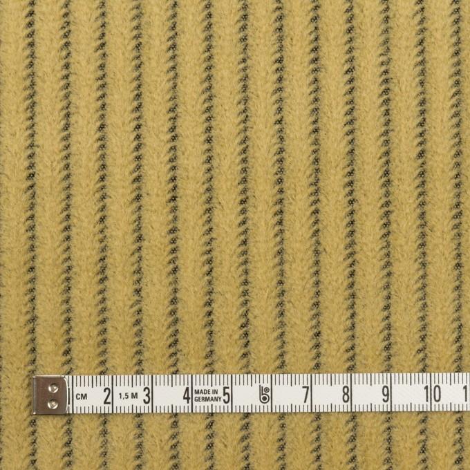 ウール×ストライプ(マスタード)×かわり織 イメージ4