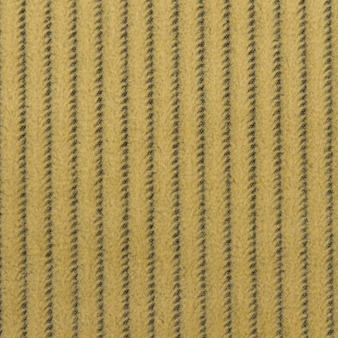 ウール×ストライプ(マスタード)×かわり織 イメージ1