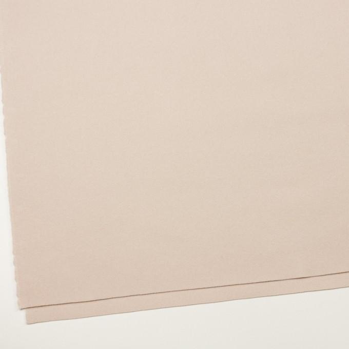ウール×無地(ピンクベージュ)×フラノ(フランネル) イメージ2