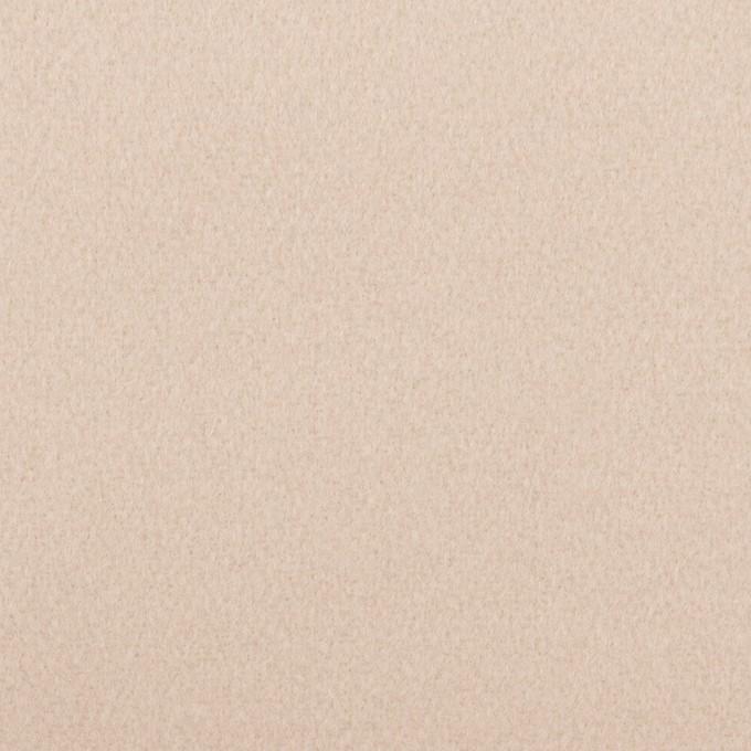 ウール×無地(ピンクベージュ)×フラノ(フランネル) イメージ1
