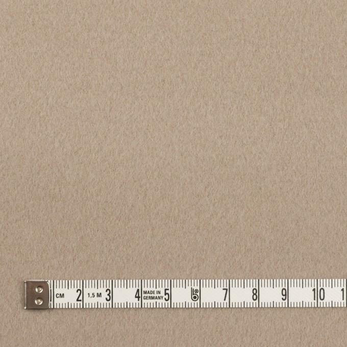 ウール&ナイロン×無地(ベージュグレー)×ビーバー イメージ4