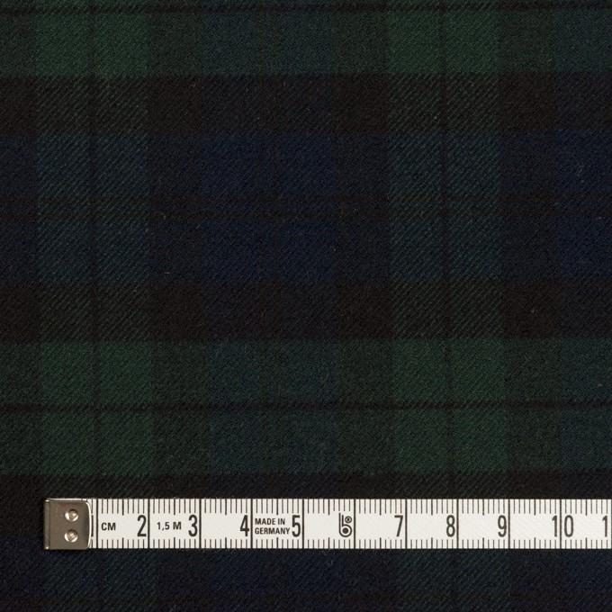 ポリエステル&レーヨン混×チェック(グリーン&ネイビー)×サージストレッチ イメージ4