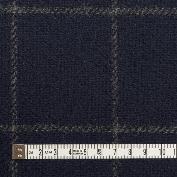 ウール×チェック(ネイビー)×ツイード(裏貼ボンディング) イメージ4