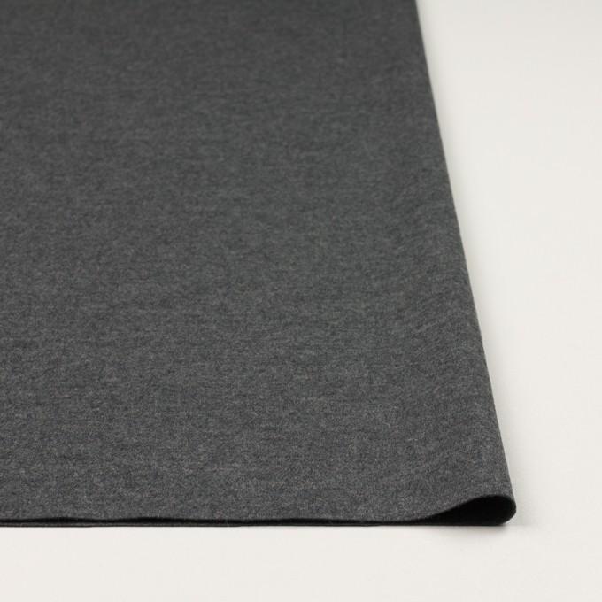ウール×無地(チャコールグレー)×圧縮ニット イメージ3