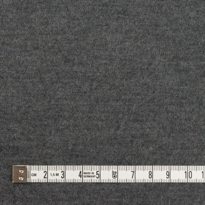 ウール×無地(チャコールグレー)×圧縮ニット イメージ4