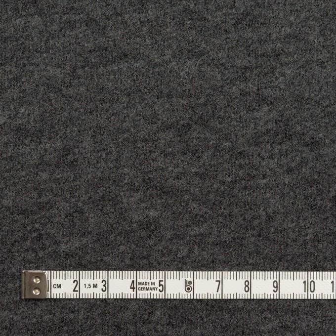 ウール&アクリル混×無地(チャコールグレー)×ループニット イメージ4