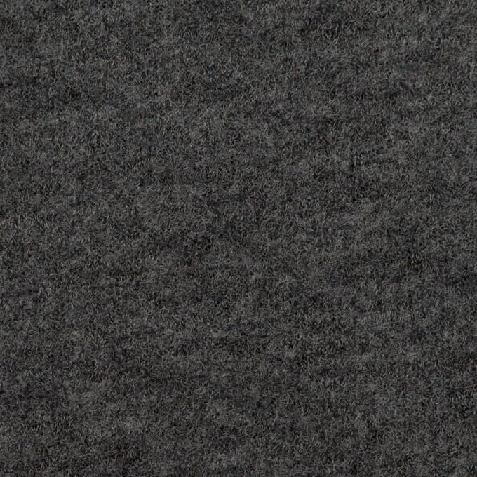 ウール&アクリル混×無地(チャコールグレー)×ループニット イメージ1
