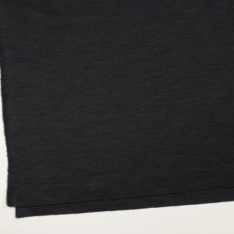 ウール&ナイロン混×無地(チャコール)×Wニット サムネイル2