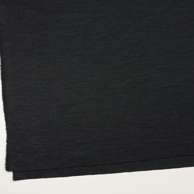 ウール&ナイロン混×無地(チャコール)×Wニット イメージ2