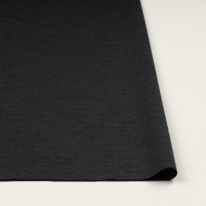 ウール&ナイロン混×無地(チャコール)×Wニット イメージ3