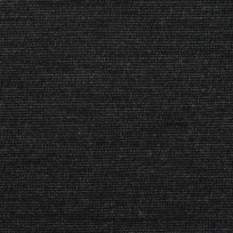 ウール&ナイロン混×無地(チャコール)×Wニット