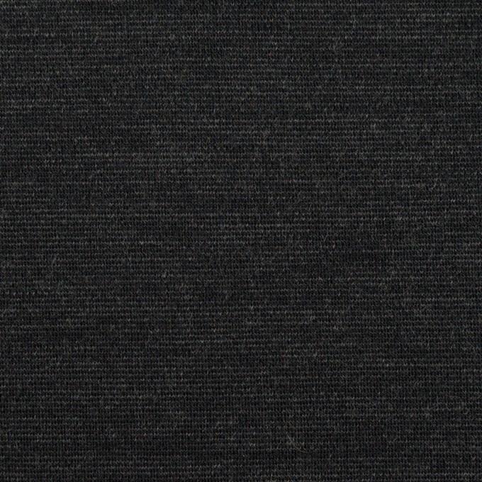 ウール&ナイロン混×無地(チャコール)×Wニット イメージ1