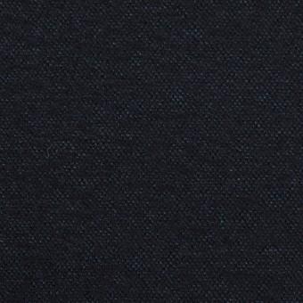 ウール&ナイロン×無地(ダークネイビー)×圧縮ニット