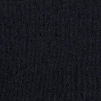 ウール&ナイロン×無地(ダークネイビー)×スムースニット