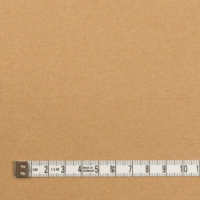 ウール&ナイロン×無地(コルク)×フラノ(フランネル) イメージ4