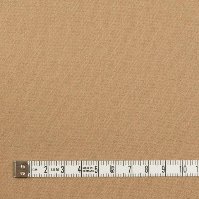 ウール×無地(チャイ)×メルトン イメージ4