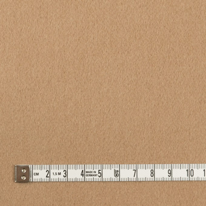 ウール&ポリエステル×無地(チャイ)×ビーバー_イタリア製 イメージ4
