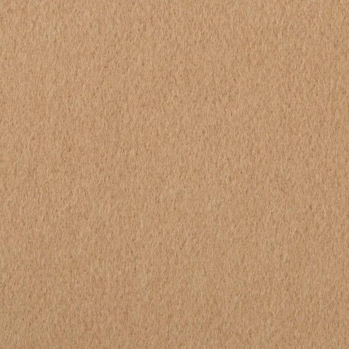 ウール&ポリエステル×無地(チャイ)×ビーバー_イタリア製 イメージ1