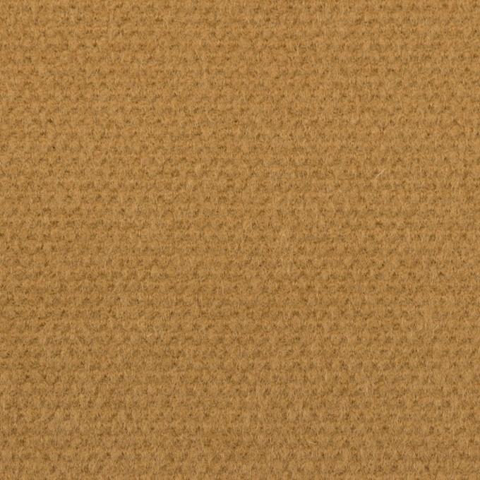 ウール×無地(キャメル)×斜子織 イメージ1