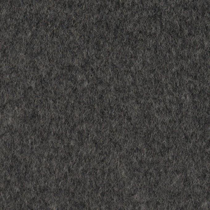 ウール&アンゴラ×無地(チャコールグレー)×ビーバー イメージ1