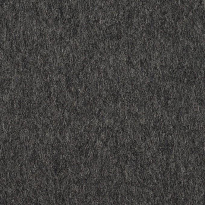 ウール×無地(チャコールグレー)×ビーバー イメージ1