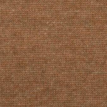 ウール&アクリル×無地(マロン)×天竺ニット_全2色