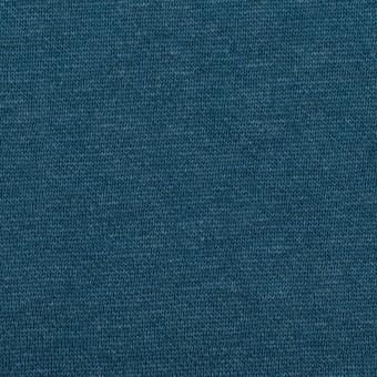 コットン&レーヨン×無地(インクブルー)×裏毛ニット(裏面起毛)_全2色