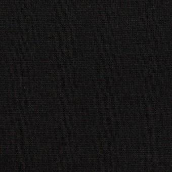 コットン&レーヨン×無地(ブラック)×裏毛ニット(裏面起毛)_全2色