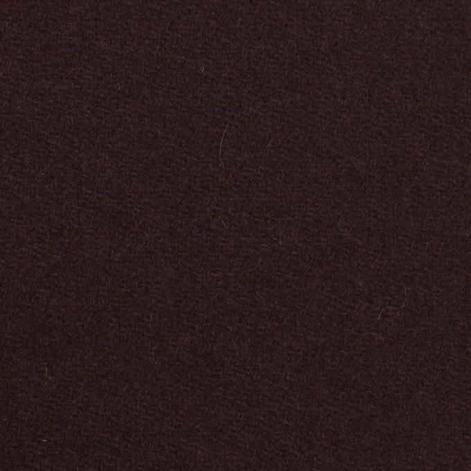ウール×無地(レーズン)×フラノ(フランネル) イメージ1