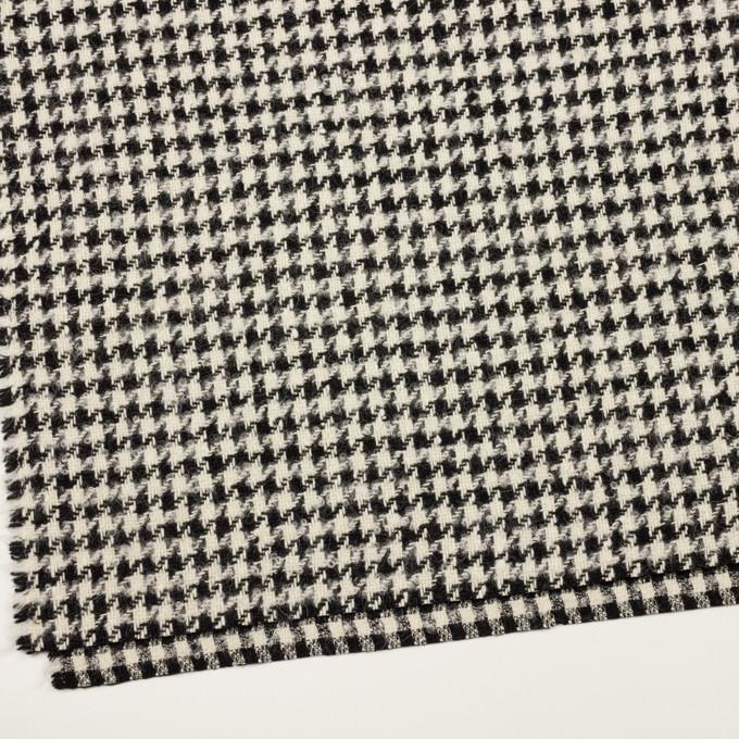 ウール&アルパカ混×千鳥格子(エクリュ&ブラック)×ファンシーツイード イメージ2