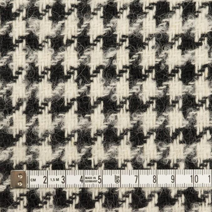 ウール&アルパカ混×千鳥格子(エクリュ&ブラック)×ファンシーツイード イメージ4