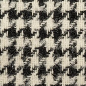 ウール&アルパカ混×千鳥格子(エクリュ&ブラック)×ファンシーツイード