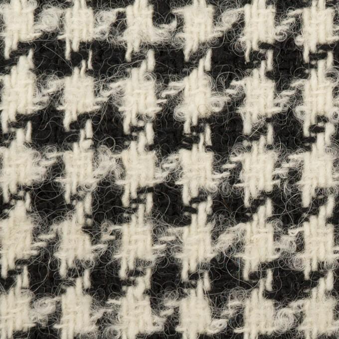 ウール&アルパカ混×千鳥格子(エクリュ&ブラック)×ファンシーツイード イメージ1
