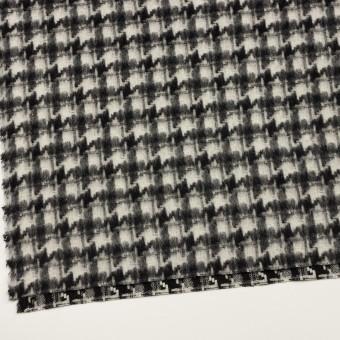 ウール&アクリル混×千鳥格子(アイボリー&ブラック)×かわり織_全3色 サムネイル2