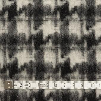 ウール&アクリル混×千鳥格子(アイボリー&ブラック)×かわり織_全3色 サムネイル4